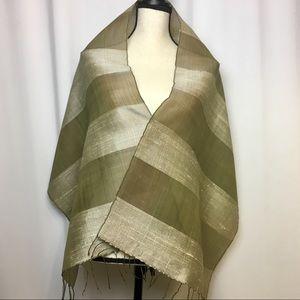 EUC-Vintage Silk Sheer Shawl